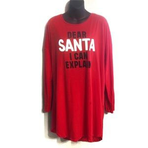 Victoria's Secret Intimates & Sleepwear - Victoria Secret Dear Santa Red Nighttime Sleep Tee